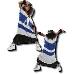 キッズ ダンス 衣装 値下げ!在庫限り!超ビッグ! ボーダー シフォン トップス 男女兼用 ヒップホップ Tシャツ キッズダンス衣装 love-bb2005 05
