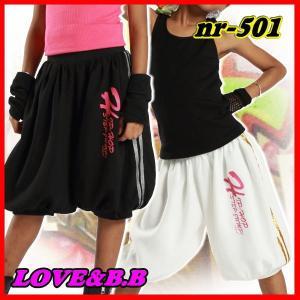 キッズ ダンス 衣装 【VOL.22!】 HIP-HOP-STEP-JUMP!のヒップホップ ハーフパンツ 白 黒 レディース ヒップホップ love&bb キッズ ダンス 衣装|love-bb2005