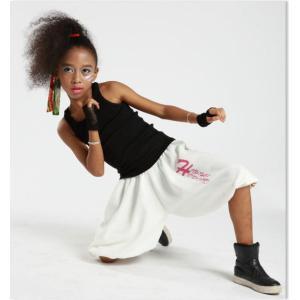 キッズ ダンス 衣装 【VOL.22!】 HIP-HOP-STEP-JUMP!のヒップホップ ハーフパンツ 白 黒 レディース ヒップホップ love&bb キッズ ダンス 衣装|love-bb2005|04