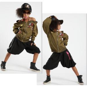キッズ ダンス 衣装 【VOL.22!】 HIP-HOP-STEP-JUMP!のヒップホップ ハーフパンツ 白 黒 レディース ヒップホップ love&bb キッズ ダンス 衣装|love-bb2005|05