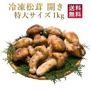 松茸 冷凍松茸 特大 開き 急速冷凍 松茸ホール 1kg