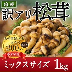 松茸 訳あり ミックスサイズ 1kg 急速冷凍 中国産 松茸ホール 冷凍松茸 つぼみ 松茸ごはん  松茸すき焼き  松茸づくし 土瓶蒸し