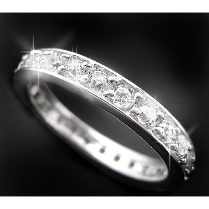 リング 指輪 レディース キュービックジルコニアシルバー925フルエタニティーリング 指輪