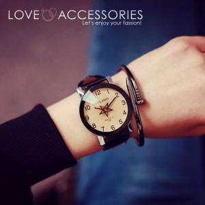 腕時計 レディース 時計 おしゃれ かわいい 人気 アクセサリー 秒針が星形なおしゃれなレディースファッションウォッチ 腕時計