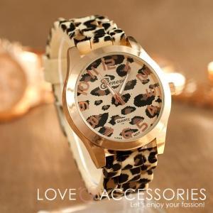 腕時計 レディース おしゃれ 安い シリコン ヒョウ柄 ウォッチ 20代 30代 40代 50代 人気 流行 トレンド