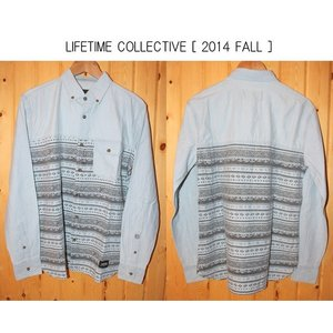 LIFETIME collective  barnacle blue blcb       ライフタイム コレクティブシャツ長袖 loveandhate