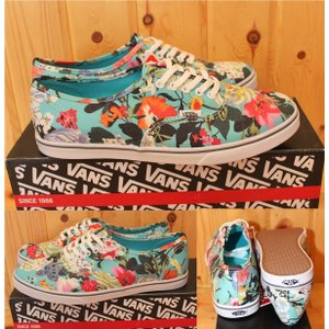VANS AUTHENTIC LO PRO  Floral 25  Smoked Prl/True White    バンズ エラ ブルー 青 花 花柄|loveandhate