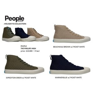 PEOPLE FOOT * THE PHILLIPS HIGH    ピープル ハイカット メッシュ靴スニーカー|loveandhate