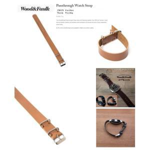 Wood&Faulk Wood and Faulk Passthrough Watch Strap   レザー 皮 時計時計用ベルトバンドストラップ loveandhate