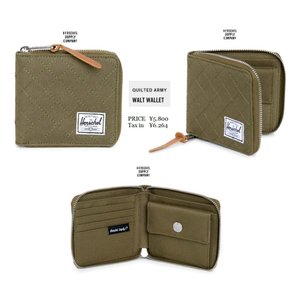 Herschel Supply Co Walt Wallet Quilted Army キルティング アーミー  ハーシェル|loveandhate