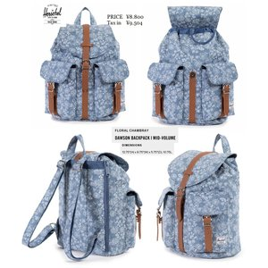 Herschel Supply Co Dawson Backpack Floral Chambray 花柄 BAG ハーシェル|loveandhate