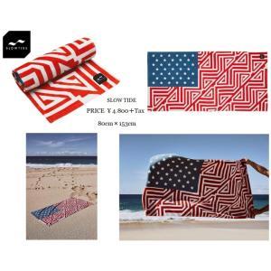 SLOWTIDE ヨガ yoga フィットネス ラグ マット アメリカ 国旗 USA ビーチ タオルソファーカバー|loveandhate