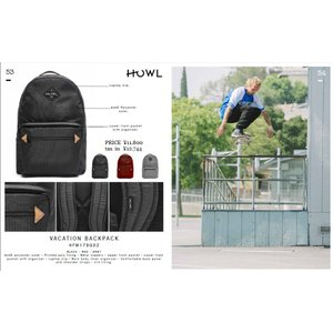 HOWL 17-18 VACATION BACK PACK BAG バッグ パック リュックサック ハウル   スノー loveandhate