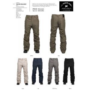 L1 17-18 SLIM BASIC PANTS パンツ エルワン  ウエア スノボ スノー|loveandhate