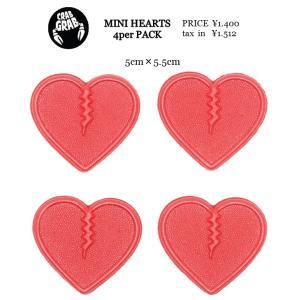 CRAB GRAB * MINI HEARTS 17-18 クラブグラブ 滑り止め デッキパッドハート スノー スノボ loveandhate