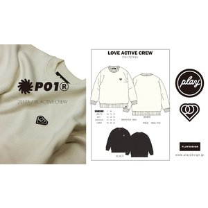 P01 PLAY LOVE ACTIVE CREW プレイ 長袖 ニット NO PLAY NO LIFE WORK DAYS BECAME PLAY DAYS|loveandhate