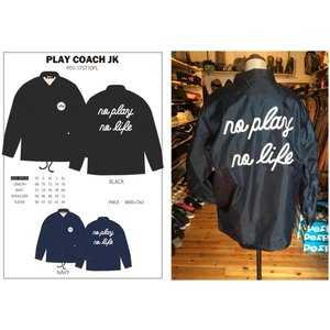 P01 △ PLAY COACH JACKET コーチジャケット ナイロン プリント プレイ 長袖 NO PLAY NO LIFE|loveandhate