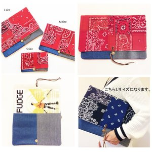 REMADE Clutch Bag  * クラッチ バッグ SP-D パッチワーク ヴィンテージビンテージ COLLECT MANIA|loveandhate