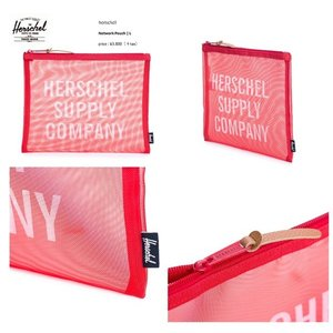 Herschel Supply Co ハーシェル Network Pouch | L    メッシュ ポーチ Red 小物入れ バッグ BAG|loveandhate