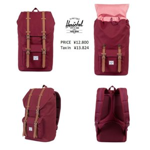 Herschel Supply Co ハーシェル送料無料 Little America Backpack   Windsor Wine/Tan Synthetic Leather BAG レンガ ワイン レザー リュック グリーン|loveandhate
