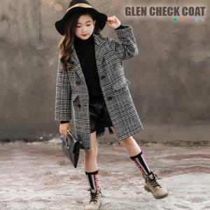 f61adbf95406b ゆうパック送料無料 グレンチェックコート チェスターコート キッズ 防寒 コート ジャンパー ジャケット