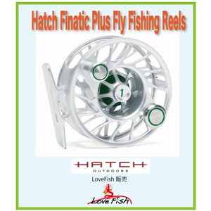 フライリールHatch Finatic Plus Fly Fishing ReelsH1P-CG-MA税/国際送料込み|lovefish