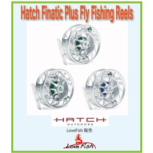 フライリールHatch Finatic Plus Fly Fishing ReelsH4P-CG-LA税/国際送料込み|lovefish