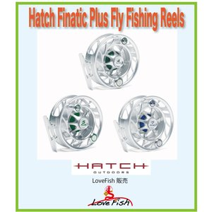 フライリールHatch Finatic Plus Fly Fishing ReelsH5P-CG-LA税/国際送料込み|lovefish