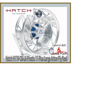 Hatch H11P-CB-LA Finatic 11 Plus Large Arbor Fly Reel 税/国際送料込み|lovefish