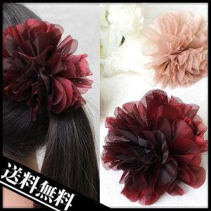 メール便送料無料 コサージュ  髪飾り オーガンジーお花コサージュ lovegal