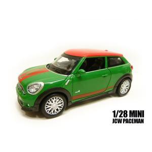 1/28 MINI JCW PACEMAN 緑 光る鳴る ギミック ミニカー ミニクーパー ペースマ...