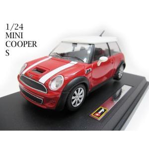 1/24 ミニクーパー S 3ドア 赤 ミニカー minic...