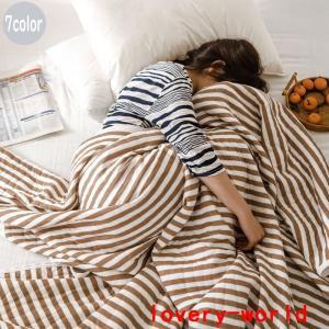 綿ケットシングルサイズ100*150cm綿100%涼しい肌掛けお昼寝無地夏用かけ布団ハーフケットブラ...