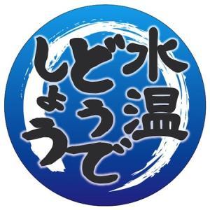 【釣り ステッカー 水温どうでしょう(円型)】 ・サイズ約φ83mm ・撥水加工(ラミネート)ステッ...