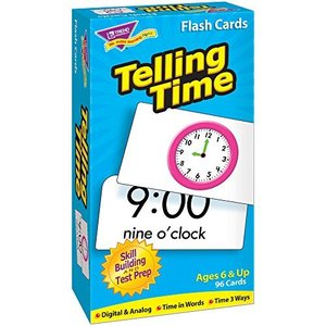 トレンド 英単語 フラッシュカード 時刻を言おう Trend Flash Cards Telling Time T-53108|lovesmiletenn
