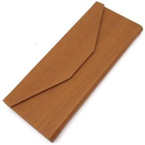 三角 折りたたみ メガネ ケース シンプル 収納 便利 コンパクト (木目調 ブラウン)