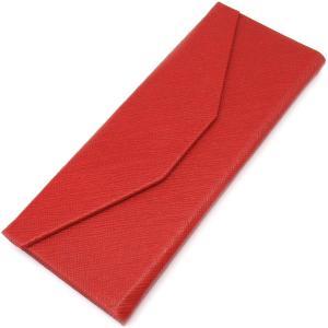 三角 折りたたみ メガネ ケース シンプル 収納 便利 コンパクト (レザー調 レッド)