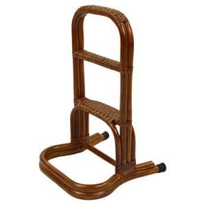 大竹産業 大竹ラタン 籐 玄関台 ブラウン 36×38×60cm 立ち上がり補助手すり つかまり立ち 3段階手すり OT-204-1 lovesmiletenn