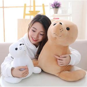 ぬいぐるみ ふわふわ もちもちアザラシ おもちゃ海豹 抱き枕 かわいいプレゼン誕生日お祝い寝室飾り60cm|lovesound