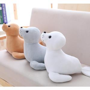 ぬいぐるみ ふわふわ もちもちアザラシ おもちゃ海豹 抱き枕 かわいいプレゼン誕生日お祝い寝室飾り35cm|lovesound