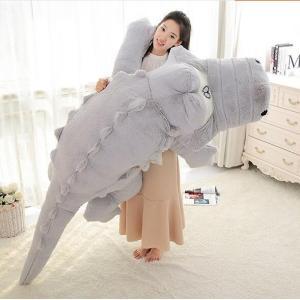 ぬいぐるみ ワニ/鰐 特大 2色 230cm 可愛いわに抱き枕/プレゼント/ふわふわぬいぐるみ|lovesound