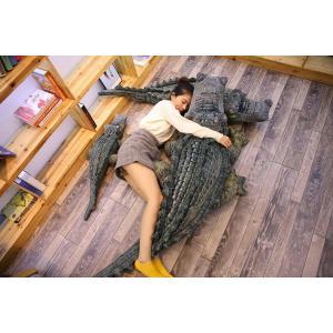 リアル ワニ ぬいぐるみ 大きい鰐 可愛いわに抱き枕 撮影道具 動物園飾り物 贈り物 200cm