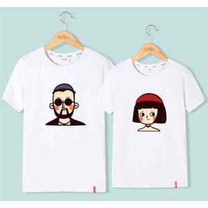 ペアシャツ tシャツ カップル ペアルック 半袖 キャラクター 夏物 部屋着 韓国風 ファッション クルーネック 可愛い /バレンタインデー|lovesound