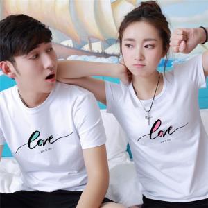 2017NEW ペアtシャツ カップル♪ペア♪tシャツ♪ペアルック♪ペアお揃い 半袖 可愛い 夏 男女兼用 韓国風 ファション レディース シャツ 激安|lovesound