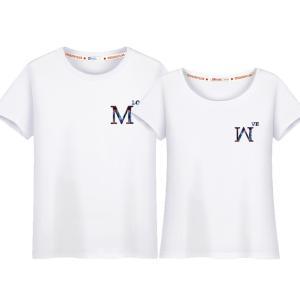 tシャツ カップル♪ペア♪ペアお揃い ロゴ 半袖 夏 男女兼用 ファション レディース シャツ 結婚記念日♪プレゼント sale 激安 オシャレ|lovesound