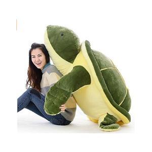 ぬいぐるみ 亀 カメ/かめ 特大 100cm カメ 大きいサイズ動物ぬいぐるみ 巨大 可愛いくま抱き枕 子供のプレゼント ぬいぐるみ|lovesound