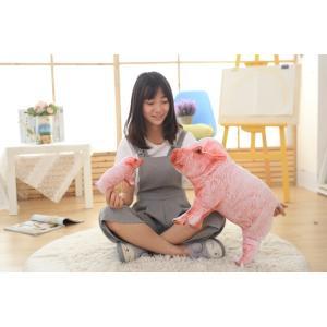 豚猪 クッション 抱き枕 オフィス用にも いのししの ぬいぐるみ ふわふわ おもちゃ 誕生日 彼女 プレゼント クリスマス 贈り物 60cm|lovesound