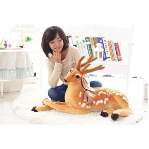 75cmリアルな鹿のぬいぐるみ 可愛いしかぬいぐるみ インテリア雑貨 子供おもちゃ プレゼント|lovesound