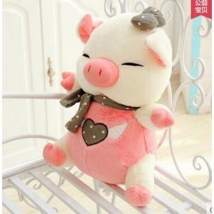 ぬいぐるみ豚ぬいぐるみ  50cm ブタぬいぐるみ 豚/抱き枕/クマ縫い包み/プレゼント/イベント/お祝い/ふわふわぬいぐるみ/ (ピンク)|lovesound