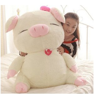 ブタ ぬいぐるみ 特大 豚 大きいぶた/抱き枕/クマ縫い包み/プレゼント/ふわふわぬいぐるみ (110cm)|lovesound